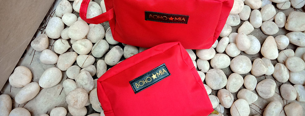 Bohomia Findeasy Red Toiletry Bag(Set Of 2)