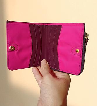 Bohomia Pocket Wallet (Wine & Hot Pink)