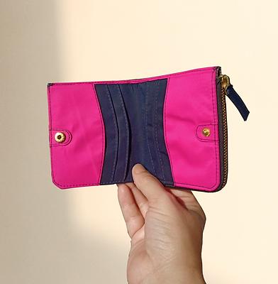 Bohomia Pocket Wallet (Blue & Hot Pink))