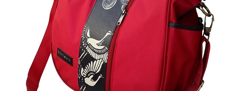 Bohomia Katagami (Red) Hobo Organizer Handbag