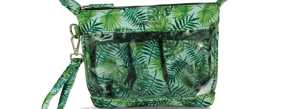 Find Easy Travel Pouch Green Leaf Print