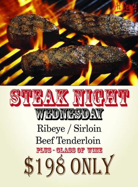 ADW steak night poster poster 19.5x26.5i