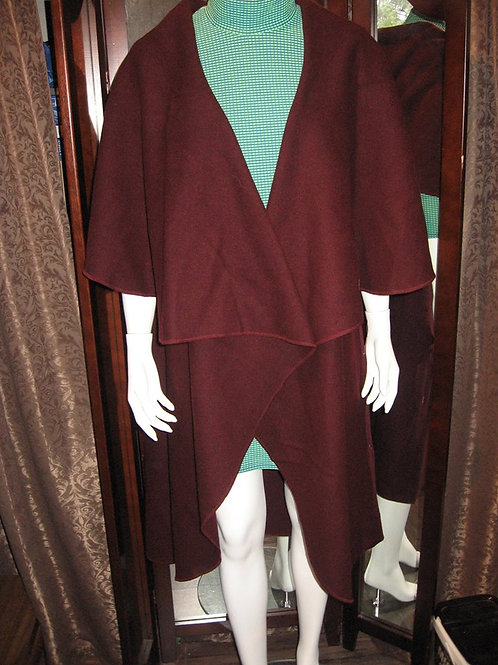 Wrap couleur unie 004 - ROUGE VIN - 100% laine
