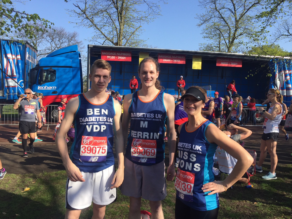 #TeamEG run the hottest London Marathon on record