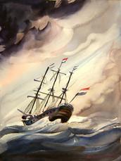 Boat Amsterdam Wind