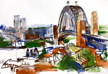 Sydney Harbour Bridge From Observation Hill