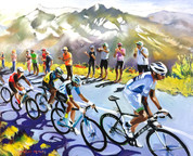 Riding The Alpes In Sun