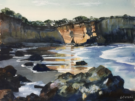 Afternoon Light on the Cliffs (sold)