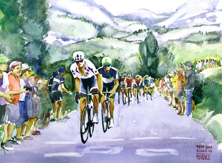 Painting le tour nearly every day!
