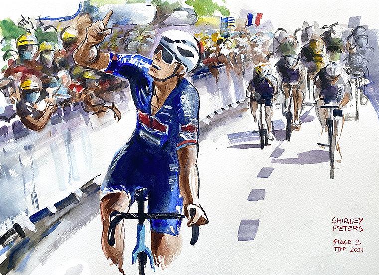 """""""Pour toi, grand-père""""  Van der Poel, Stage 2"""