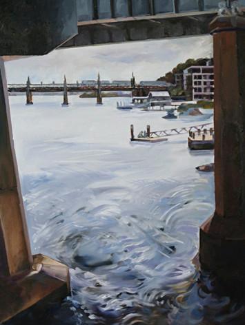 View under Ryde Bridge