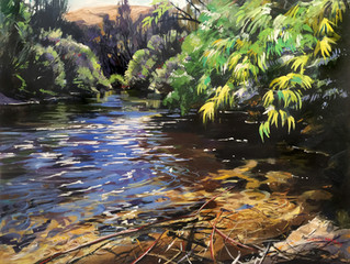Painting at Jugiong (a lovely small town in NSW.)