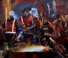 Workers in the Tunnel