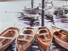 Four Wooden Boats