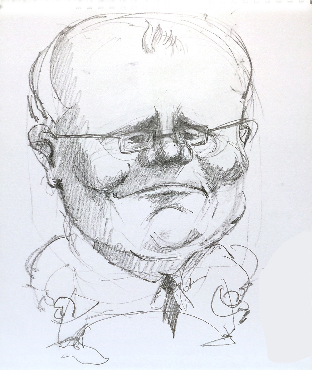 Sketch of Scott Morrison