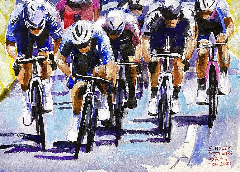Mark Cavendish Sprints Stage 4