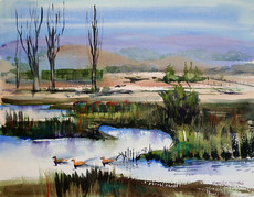3 Duck Pond Painting