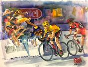 Cadel in Yellow, Sprint Finish