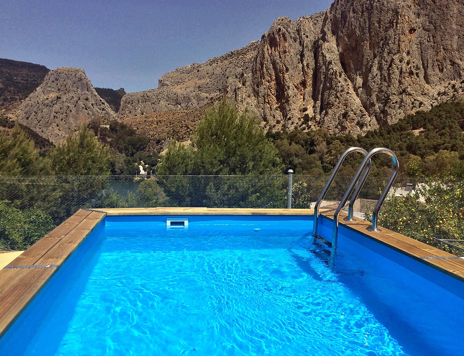 zwembad in El Chorro