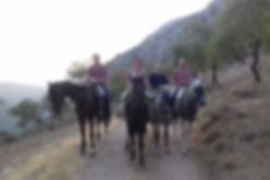 heerlijk paardrijen in El Chorro