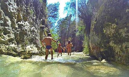 rivierwandeling in Nerja