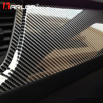 100cm*30cm High Glossy 5D Carbon Fiber Wrapping Vinyl Film