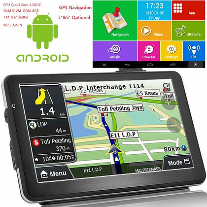 """ 7"" Inch Android Quad Core 16GB Car GPS Navigation Sat Na AV-IN Bluetooth WIFI"
