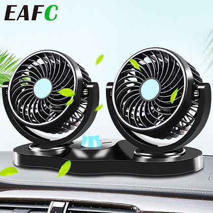 12v/24v Mini Electric Car Fan Low Noise Car Air Conditioner 360 Degree Rotating