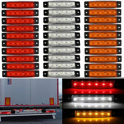 30x 6 LED Light SMD 12V White Red Orange