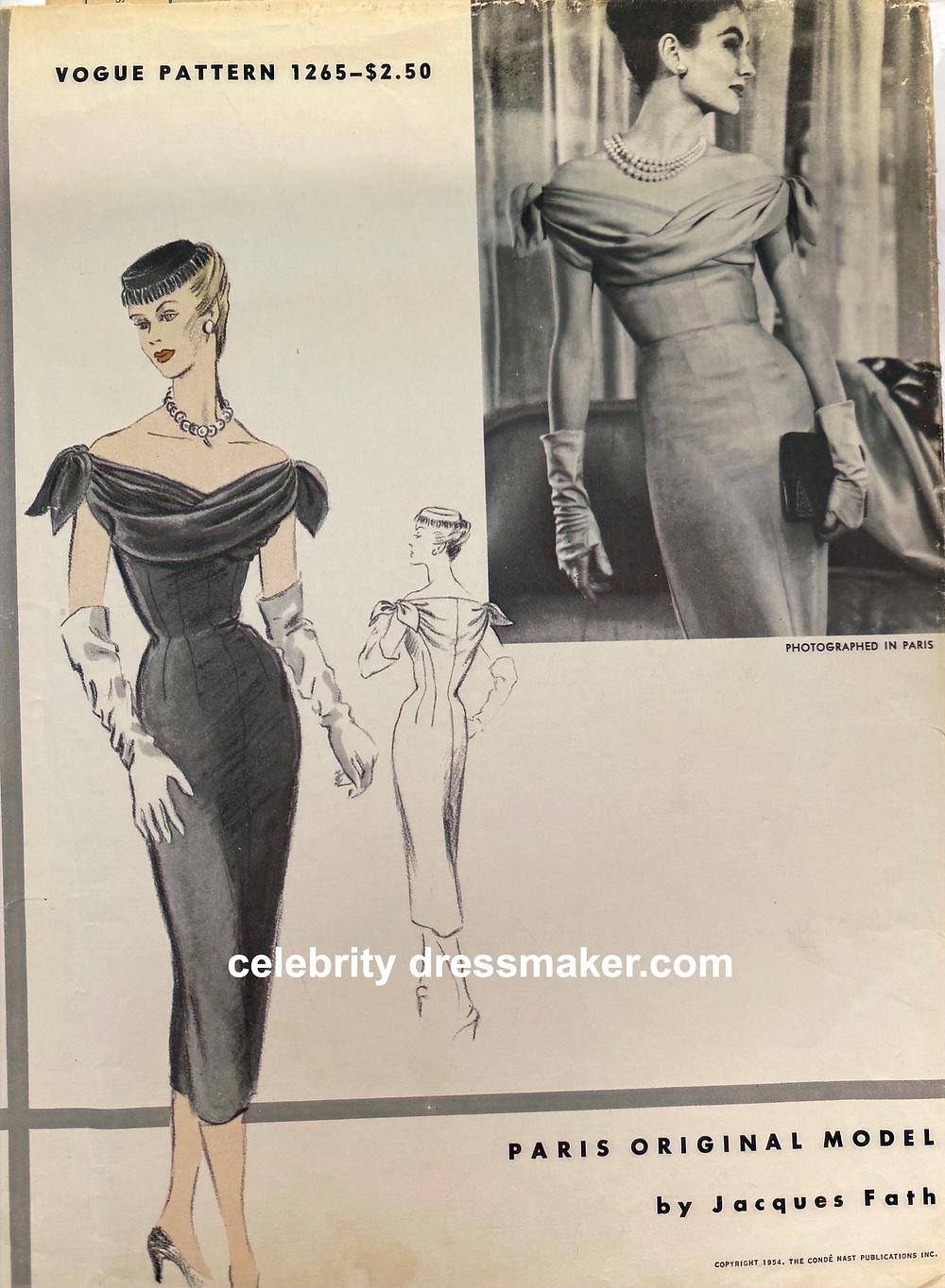 Jacques Fath, Vogue Paris Original Model, #1265
