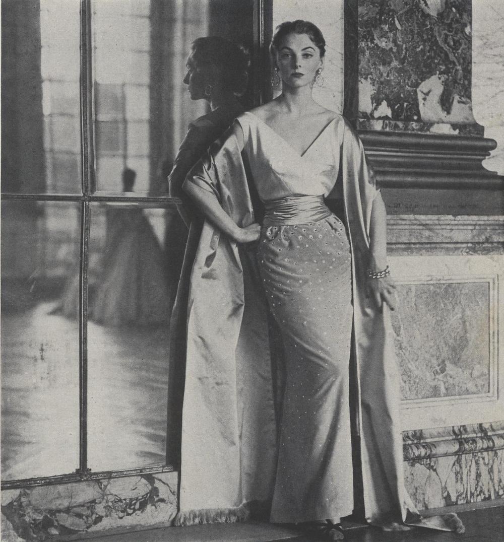 Nina Ricci Narrow Ball Dress, Frances Mclaughlin. Vogue, September 15, 1952
