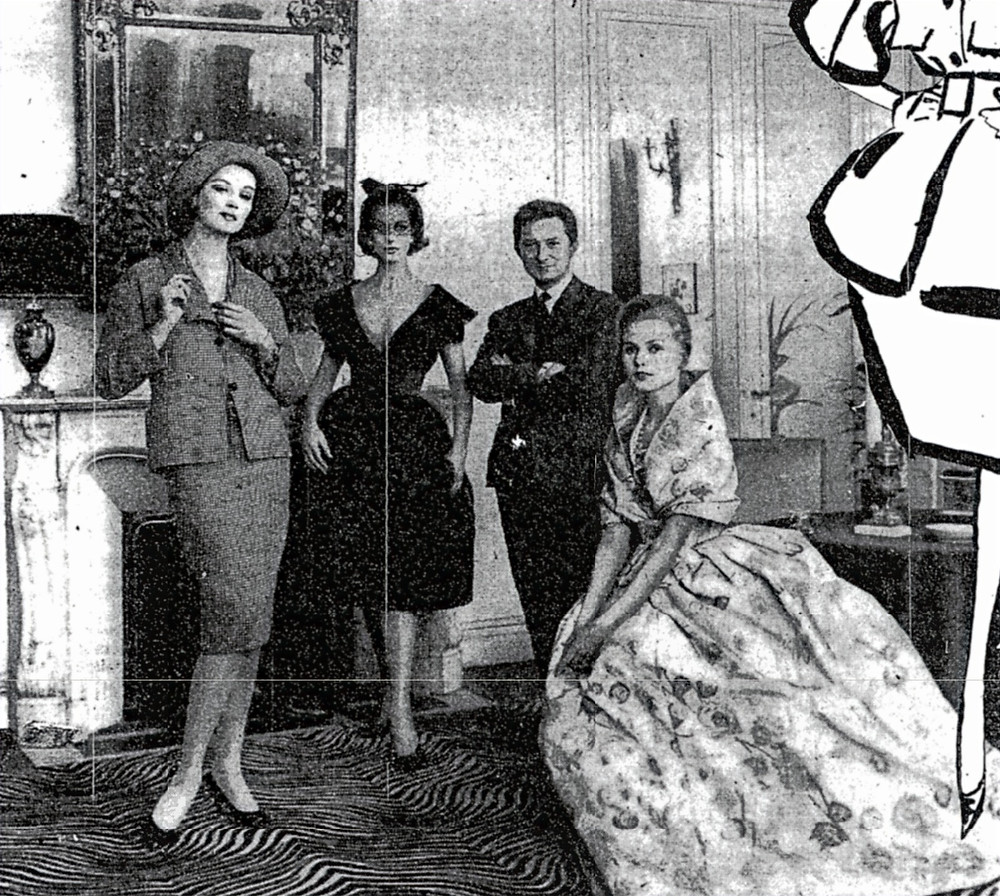 Crahay designs for Nina Ricci in 1959