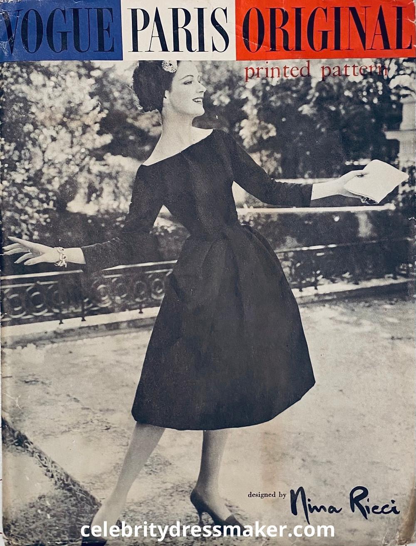 Vogue Paris Original, #1388, Nina Ricci by Jules-Francois Crahay c. 1957.