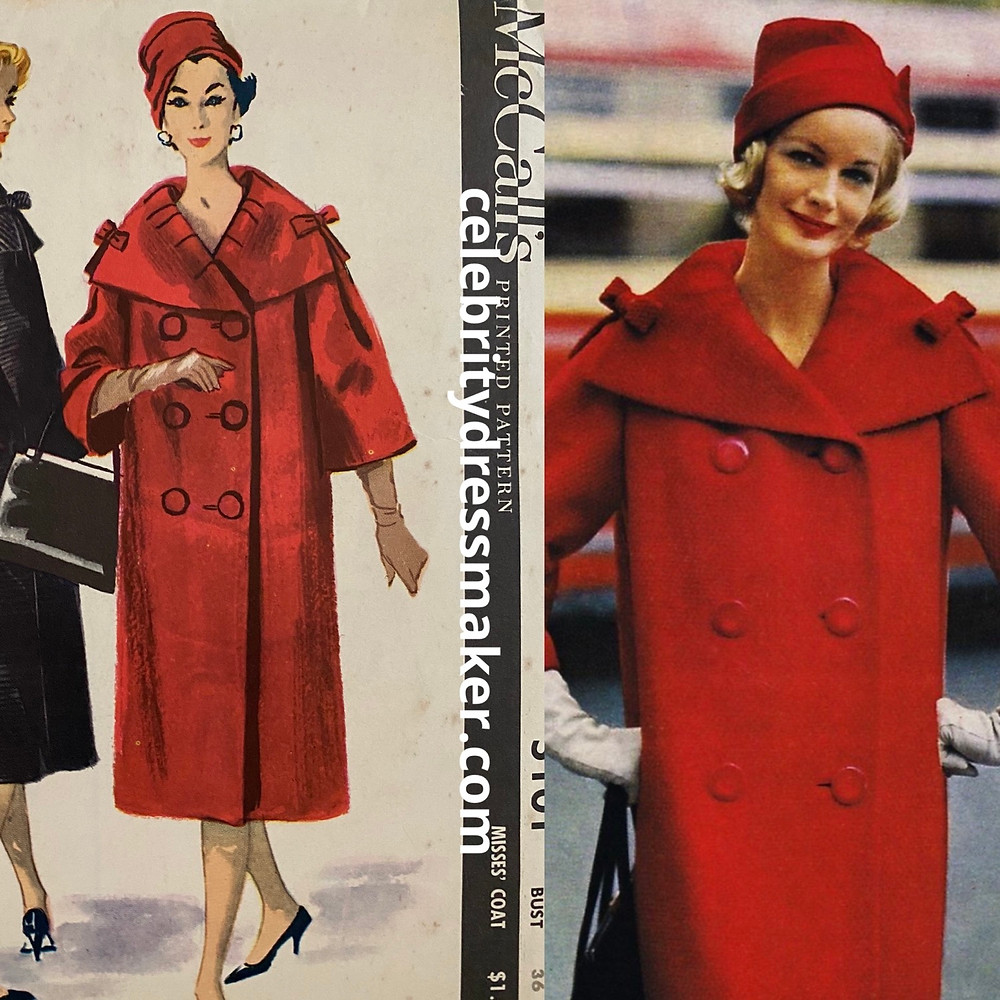 McCall's #5101 by Pierre Cardin c.1959 vs. McCall Pattern Book, Fall 1959
