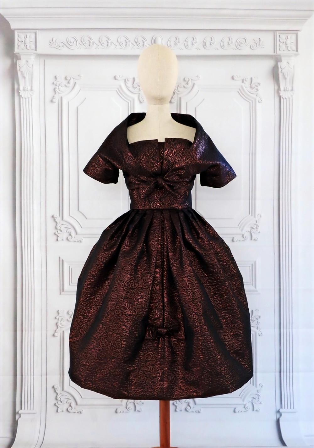Dress and Bolero designed by Simonetta, Pattern Vogue 101 V101 year 1958