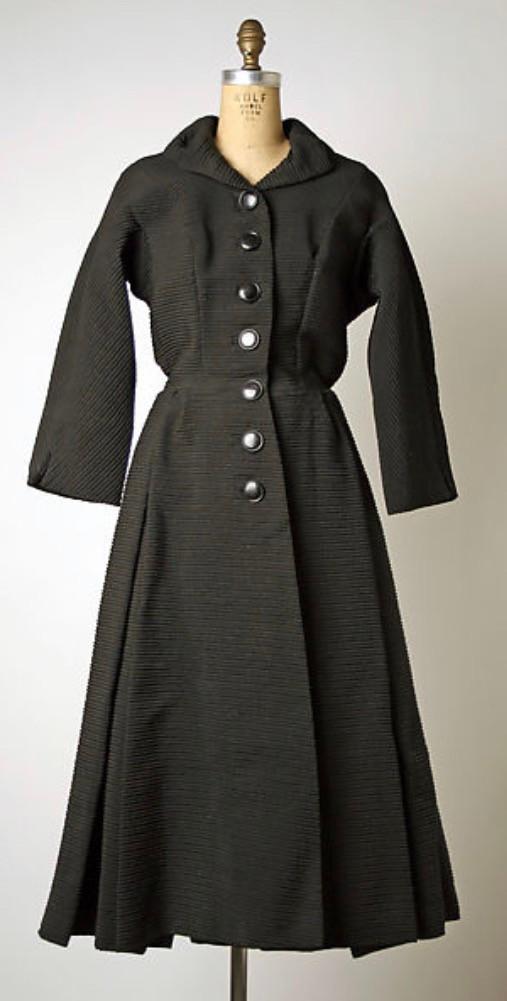 ne one of Cardin's earliest work, coat from 1951, MET Museum