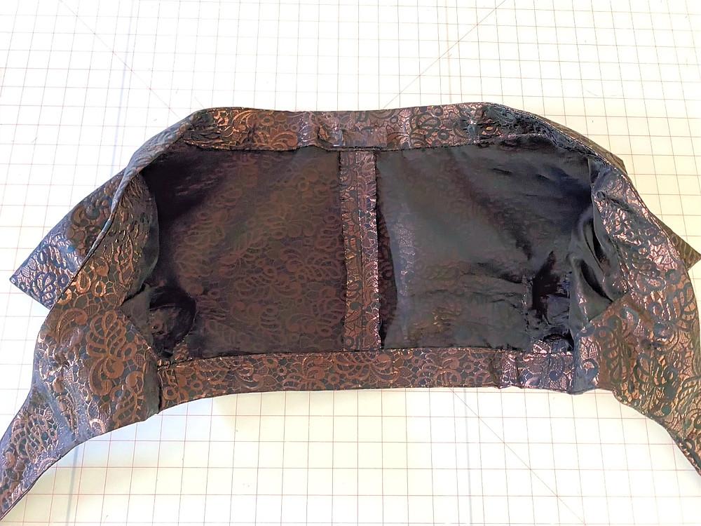 Inside the Simonetta Bolero lined with Silk Organza