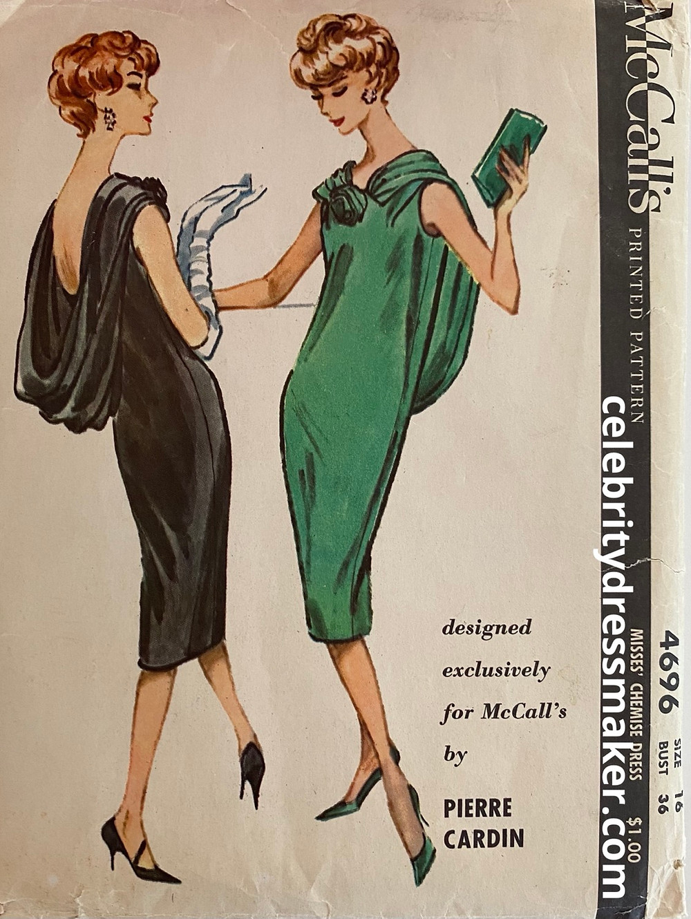 McCall's #4696 Sewing Pattern, 1958 Design by Pierre Cardin