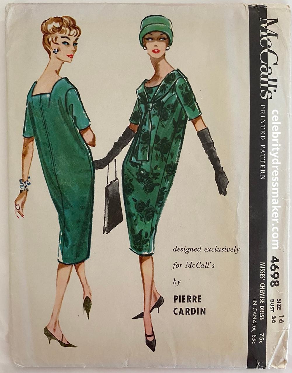McCall's #4698 pattern Design by Pierre Cardin 1958