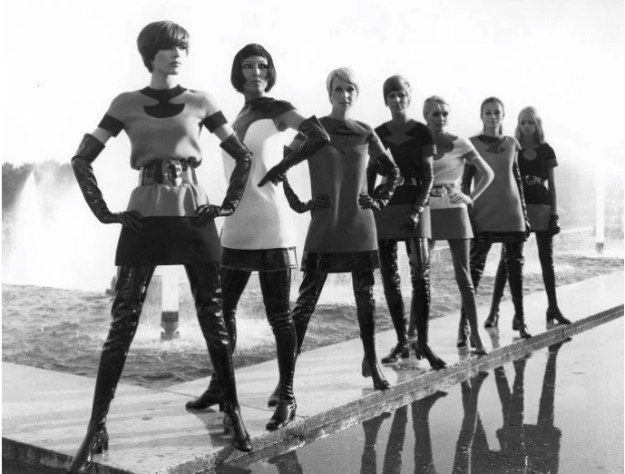 Pierre Cardin Two Tone Jersey Dresses with Vinyl Waders, 1969, Sotheby's