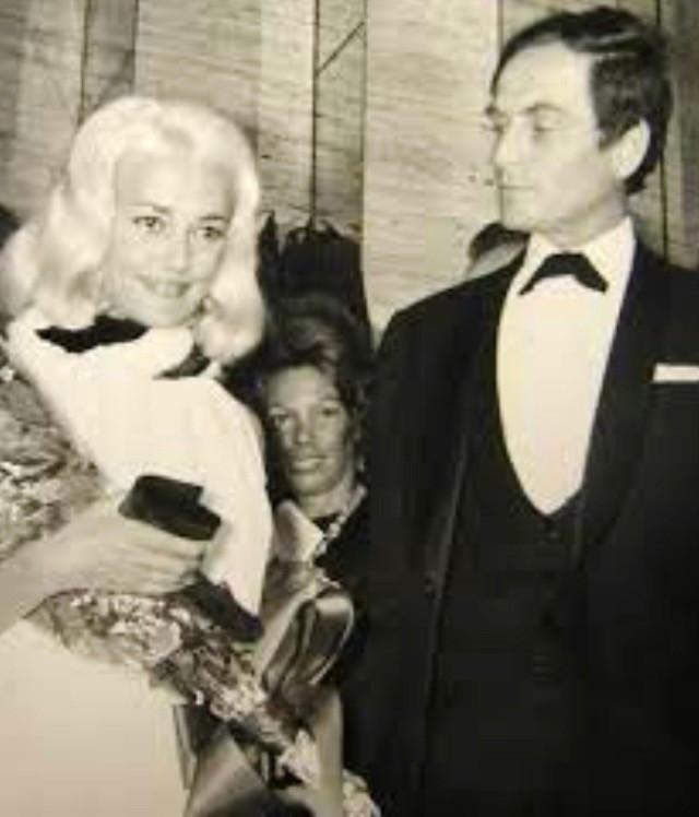 Jeanne Moreau with Pierre Cardin