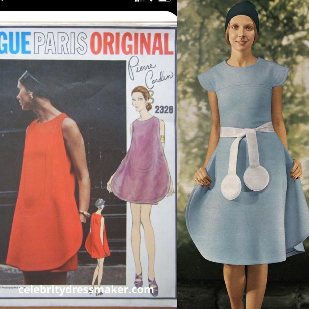 Vogue Paris Original #2328 by Cardin vs. Jours de France - Feb 1971