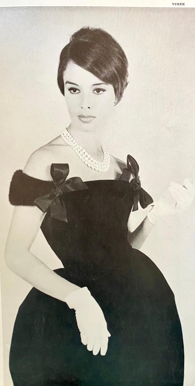Black Velvet Dance Dress, Dior. L'Officiel, October 1959