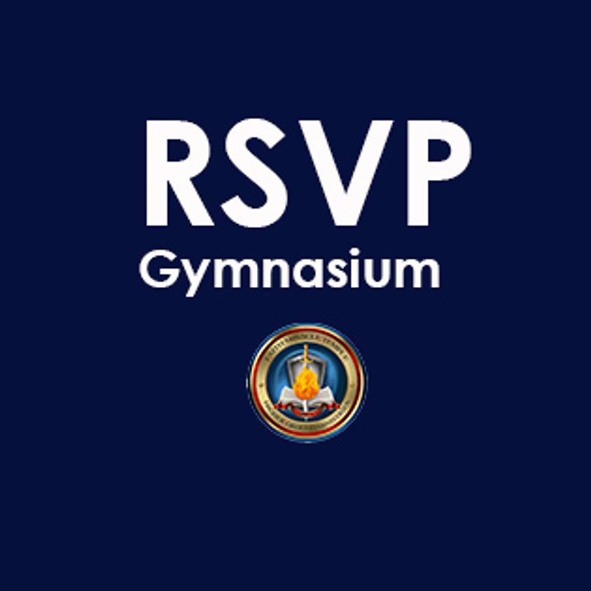Gymnasium RSVP for Service: SUNDAY, APRIL 25TH