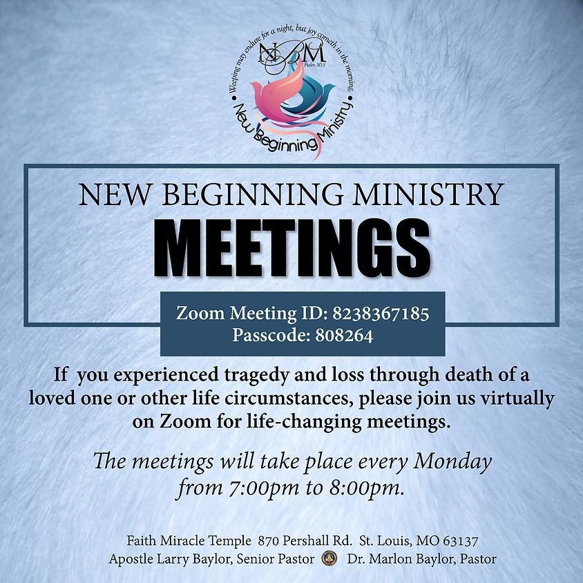 New Beginning Ministry Meetings
