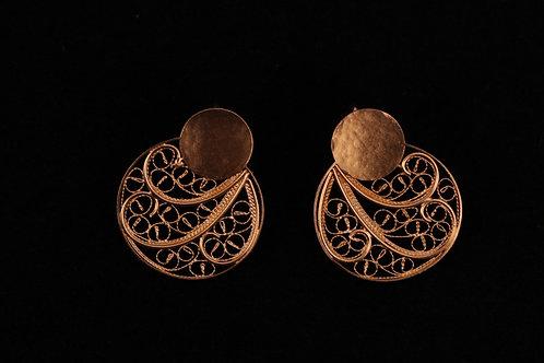 Handmade portuguese filigree earrings