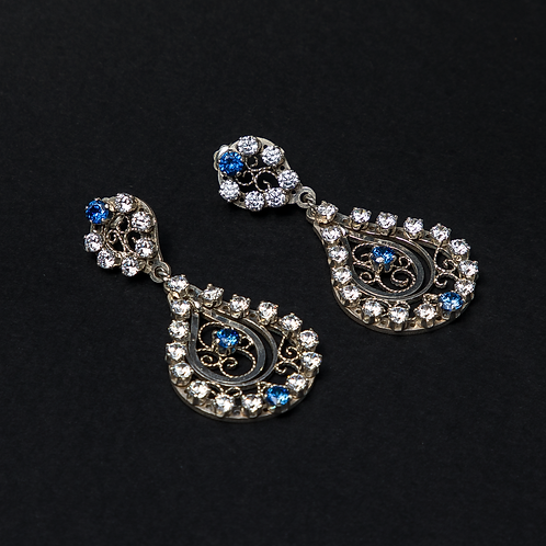 Filigree Sapphires Earrings