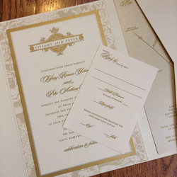 Instagram - Gold thermography ink invitation