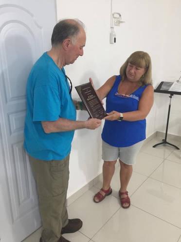Dominican Republic Plaque Presentation