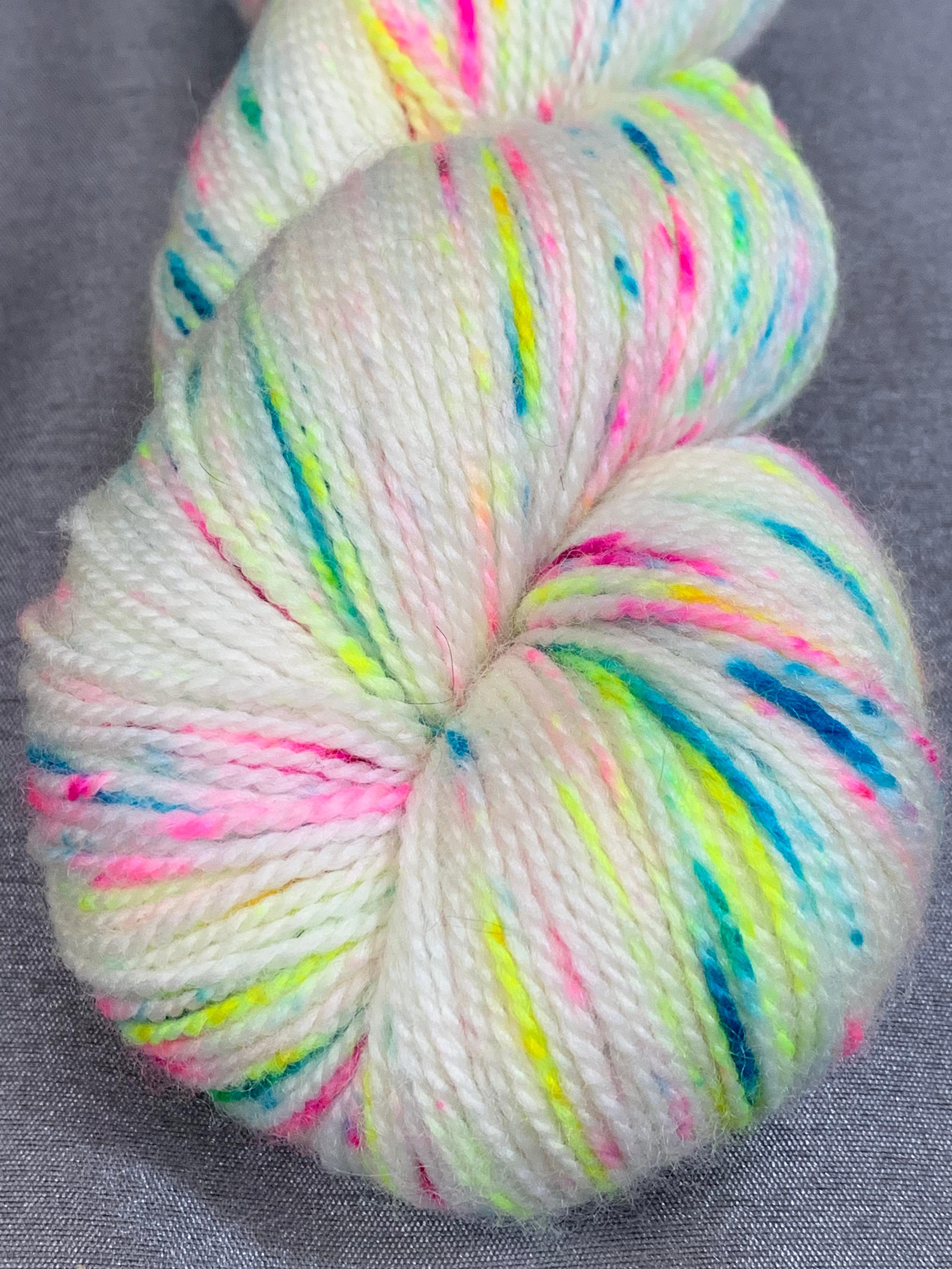hand dyed yarn yarn speckled yarn,soft yarn, 3ply yarn funfetti yarn Confetti yarn,Baby yarn striped yarn Fingering weight yarn